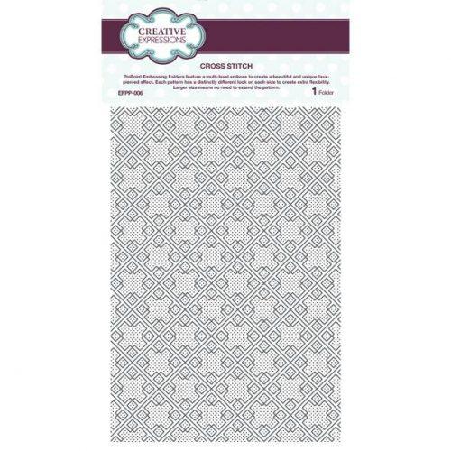 Emboss Folder Cross Stitch PinPoint