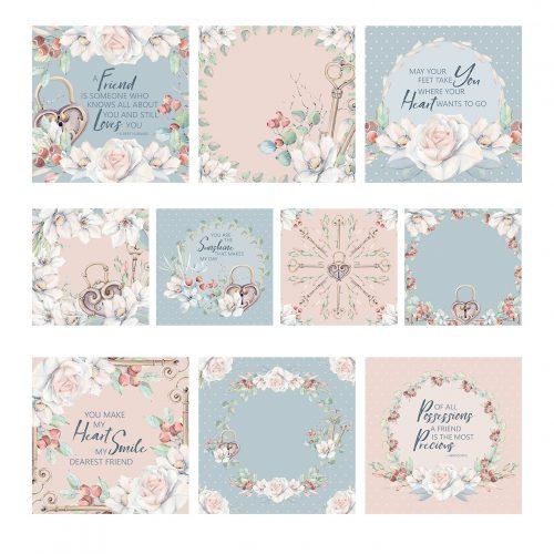 the paper boutique secret romance 5x5 sentiments pad