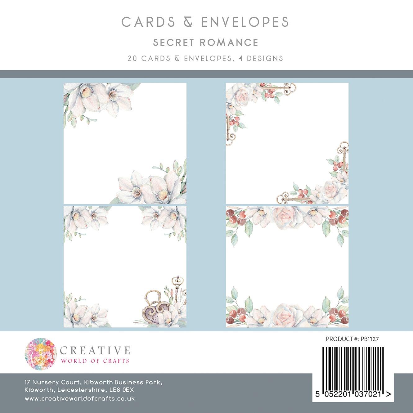 the paper boutique secret romance 8x8 card amd envelope pack