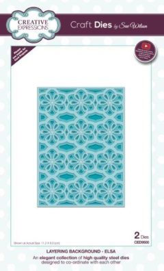 sue wilson craft die layering background elsa