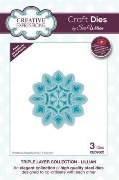 sue wilson craft die triple layer lillian
