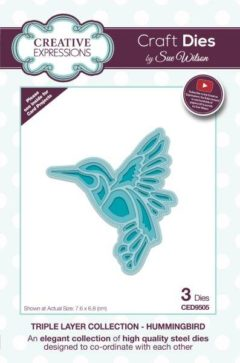 sue wilson craft die triple layer hummingbird