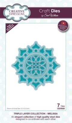 sue wilson craft die triple layer melissa