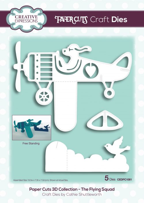 papercuts craft die 3d the flying squad