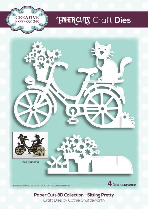 papercuts craft die 3d sitting pretty