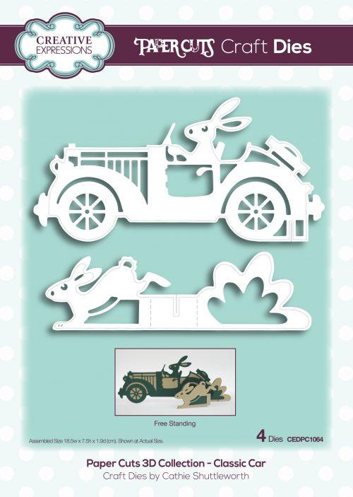 papercuts craft die 3d classic car
