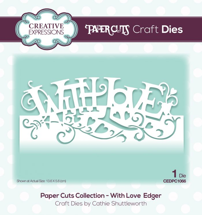papercuts craft die with love edger