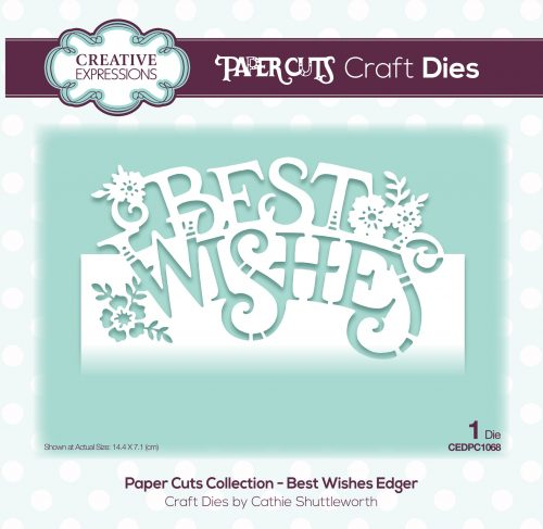 papercuts craft die best wishes edger