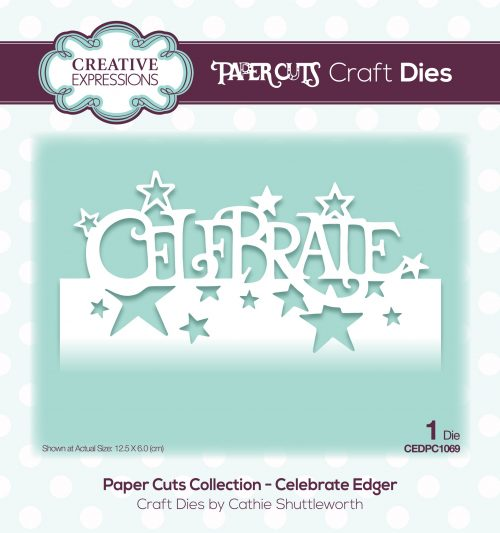 papercuts craft die celebrate edger
