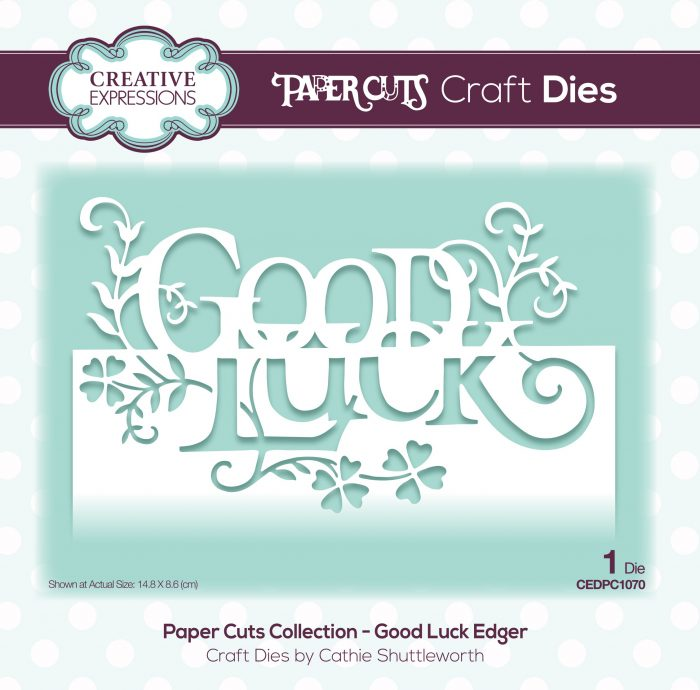 papercuts craft die good luck edger