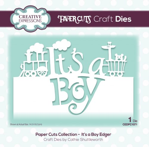 papercuts craft die it's a boy edger
