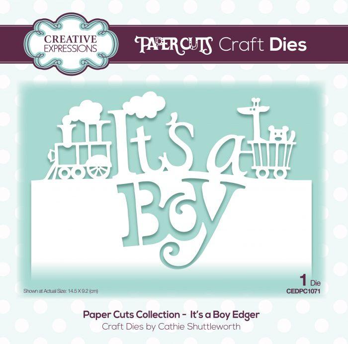 papercuts craft die it's a boy edger