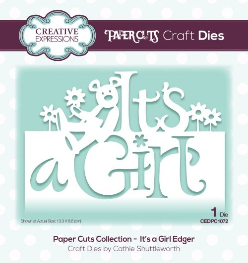 papercuts craft die it's a girl edger