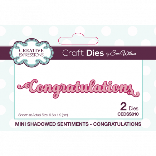 Sue Wilson Mini Shadowed Sentiments Congratulations