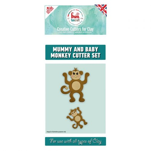 fmm mummy and baby monkey cutter set