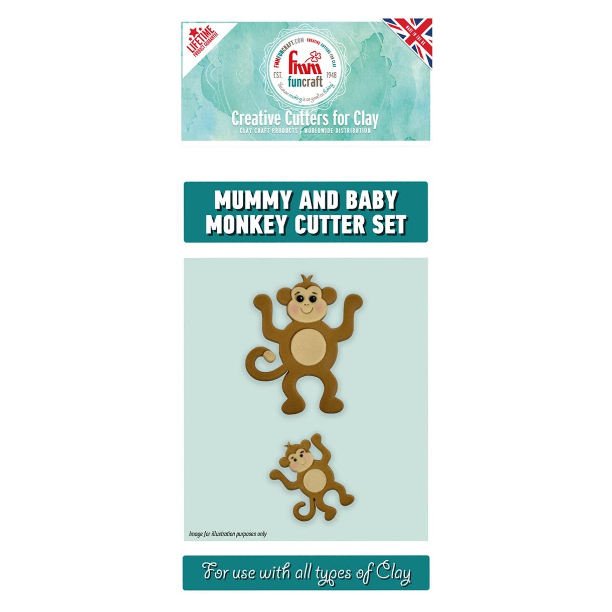 fmm mummy and baby monkey cutter set