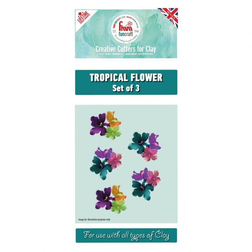 fmm tropical flower cutters set of 3