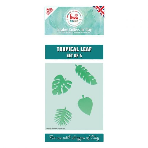 fmm tropical leaves cutters set of 4