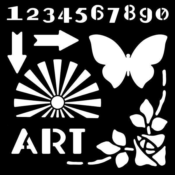 "Woodware 6"" x 6"" Stencil Art Deco Elements"