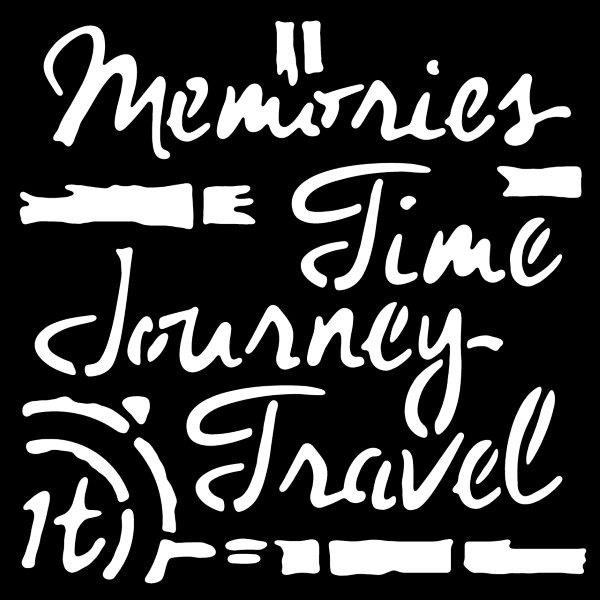 """Woodware 6"""" x 6"""" Stencil Time Travel"""