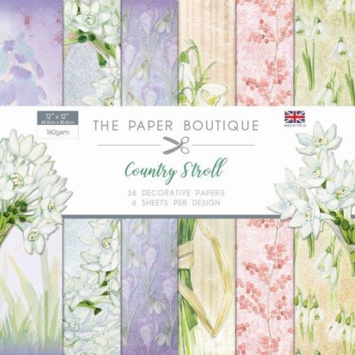 the paper boutique country stroll 12x12 paper pad