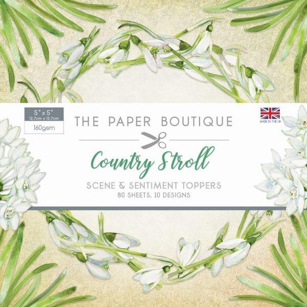 the paper boutique country stroll 5x5 sentiments paper pad