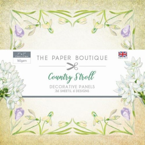 the paper boutique country stroll 7x7 paper pad