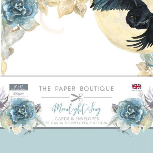 the paper boutique midnight song 8x8 card and envelope pack