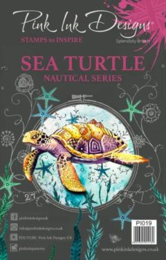 pink ink designs a5 stamp sea turtle (nautical series)