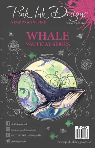 pink ink designs a5 stamp whale (nautical series)