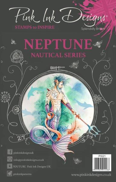 pink ink designs a5 stamp neptune (nautical series)