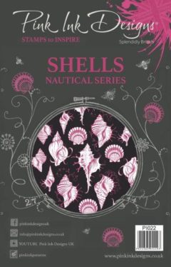 pink ink designs a5 stamp shells (nautical series)