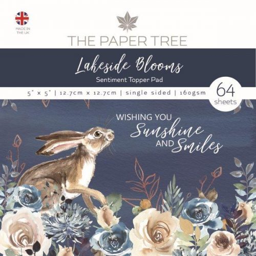 the paper tree lakeside blooms 5x5 sentiment pad