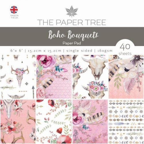 the paper tree boho bouquets 6x6 paper pad