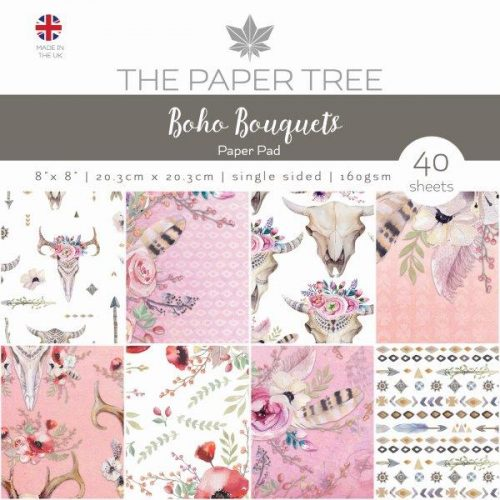 the paper tree boho bouquets 8x8 paper pad