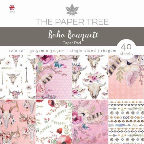 the paper tree boho bouquets 12x12 paper pad