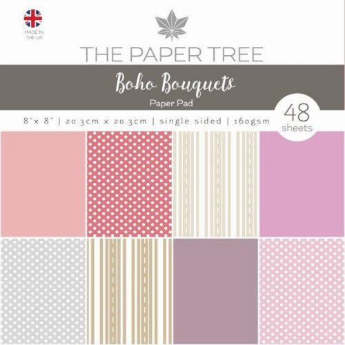 the paper tree boho bouquets 8x8 essentials paper pad