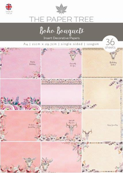 the paper tree boho bouquets insert collection