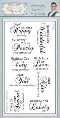 sentimentally yours bohemian essential sentiments DL stamp