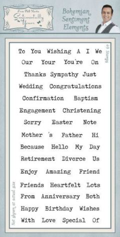 sentimentally yours bohemian sentiments elements DL stamp