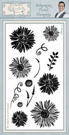 sentimentally yours bohemian floral elements DL stamp