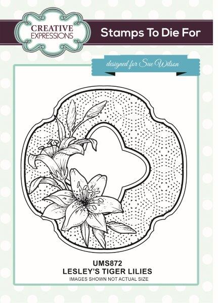 sue wilson stamps to die for lesleys tiger lilies