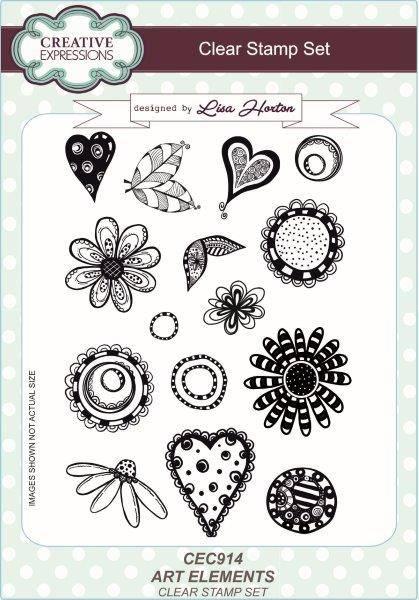 lisa horton a5 stamp set art elements