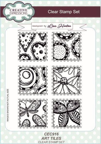 lisa horton a5 stamp set art tiles