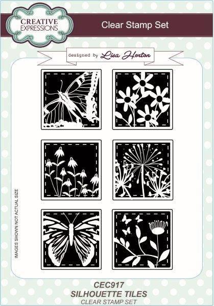 lisa horton a5 stamp set silhouette tiles