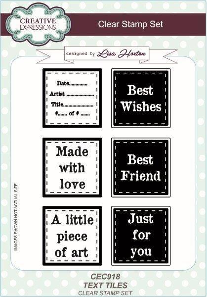lisa horton a5 stamp set text tiles