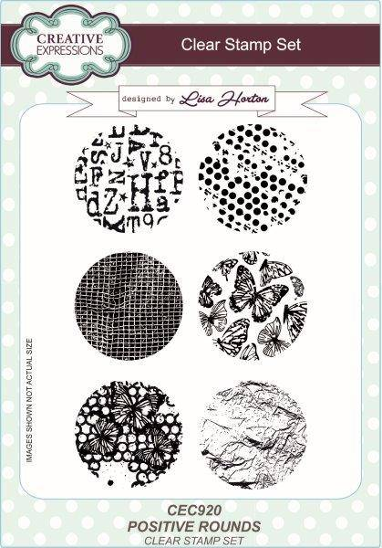 lisa horton a5 stamp set positive rounds