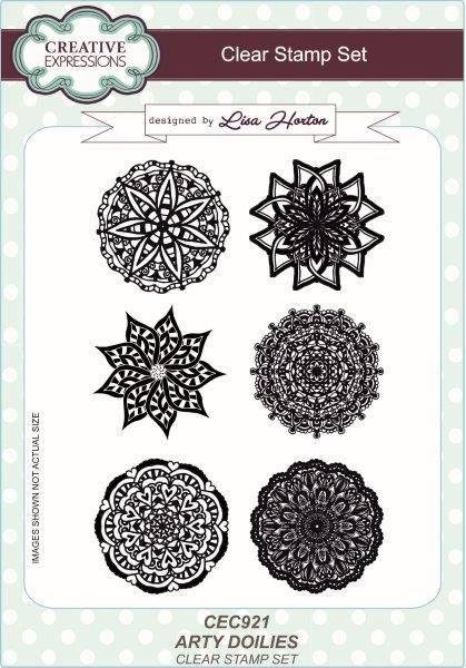 lisa horton a5 stamp set arty dollies