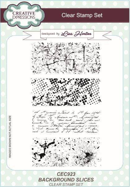 lisa horton a5 stamp set background slices
