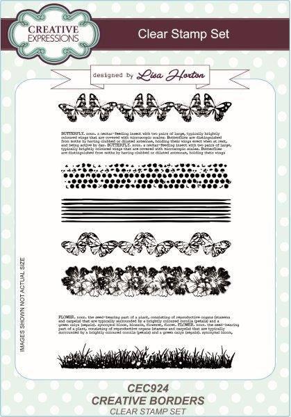 lisa horton a5 stamp set creative borders